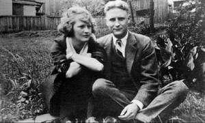 Zelda Fitgerald and F Scott Fitzgerald