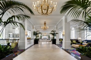 The lobby of the Don Cesar