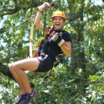 Zipping through the trees in Oconee County