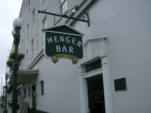 Menger Bar sign