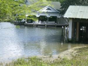 boathouses along the Magnolia River