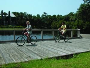 Riding a bike on Kiawah Island