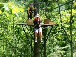Ziplining at SkyValley
