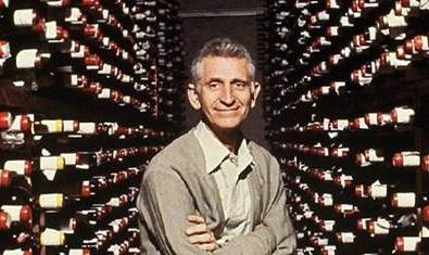 Founder/Owner Bern Laxer in Wine Cellar
