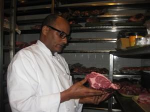 Chef Hab in Meat Locker