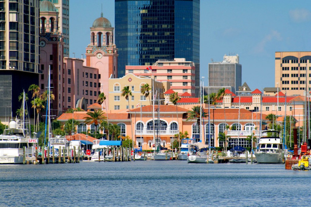 Downtown St Pete from the water
