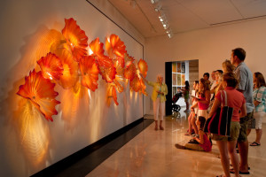 Dale Chihuly, Sunset Persian Wall, 2010